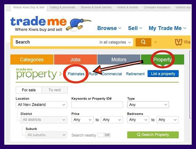 trademe property top  トレードミー trademe ニュージーランド オークション